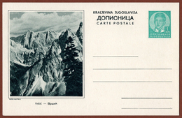 YUGOSLAVIA-SLOVENIA, VRSIC MOUNTAIN, 5th EDITION ILLUSTRATED POSTAL CARD - Interi Postali