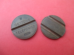 2 Jetons Téléphoniques Identiques / ITALIE/ Gettone Telefonico / 7607 / Vers 1970             BILL200 - Italy
