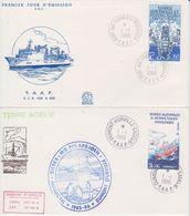 TAAF 1986 Ships 2v 2 FDC Ca Dumont D'Urville (41945) - FDC