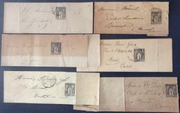PEPO34 6 Bandes Journaux 1c Sage - Postal Stamped Stationery