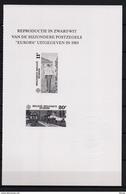 ZNP 17 ZWART  WIT VELLETJE EUROPA 1985 - Feuillets Noir & Blanc
