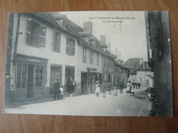 CPA 2 - Carte Postale Ancienne - Saint Germain Les Belles Filles - La Rue Centrale - Saint Germain Les Belles