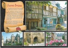 22 - SAINT-BRIEUC - Parchemin - Historique De La Ville - Multi Vues - 4 Vues - Cpm - Vierge - - Saint-Brieuc
