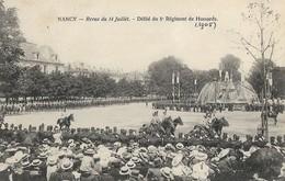 CARTE POSTALE ORIGINALE ANCIENNE : NANCY REVUE DU 14 JUILLET 1905  5ème REGIMENT HUSSARDS ANIMEE MEURTHE ET MOSELLE (54) - Nancy
