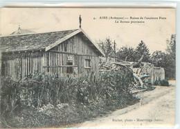 CPA 08 Ardennes Aire Ruines De L'Ancienne Poste - Le Bureau Provisoire - France