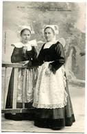 CPA Jeunes Filles De Lanriec Et Trégunc   Environs De Concarneau (époque 1900 ) - Trachten