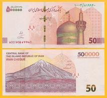 Iran 500000 (500'000) Rials Cheque P-new 2019 UNC - Irán