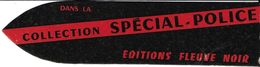 MARQUE-PAGE SIGNET BOOKMARK COLLECTION SPÉCIAL POLICE EDITION FLEUVE NOIR BRAUN - Marque-Pages