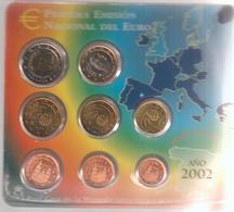 Spagna-2002-Divisionale 8 Valori-F.D.C.-Unificato E.40 - Spagna