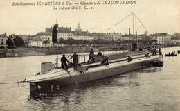 SOUS MARIN CHALON SUR SAÔNE SUBMERSIBLE S C - Warships