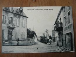 CPA 2 - Carte Postale - EYgurande - Rue Du Champ De Foire - Eygurande