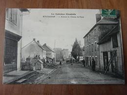 CPA 2 - Carte Postale - Eygurande - Avenue Du Champ De Foire - Eygurande