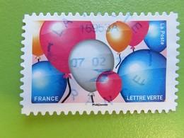 Timbre France YT 1558 AA - Emoji - Les Messagers De Vos émotions - Ballons - 2018 - Frankrijk