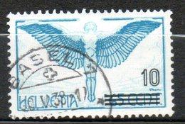 SUISSE  P Aériene10 Sur 65c Bleu Vert 1935-38 N°25 - Poste Aérienne