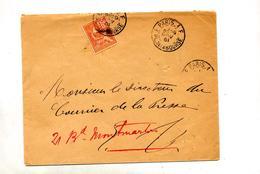 Lettre Cachet  Paris 1 F Sur Mouchon - Poststempel (Briefe)