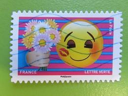 Timbre France YT 1563 AA - Emoji - Les Messagers De Vos émotions - Bouquet De Fleurs Offert à Un émoji - 2018 - Frankrijk