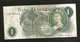 UNITED KINGDOM - BANK Of ENGLAND - 1 POUND (1970 - 1980 / J. PAGE) - 1952-… : Elizabeth II