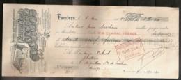 DISTILLERIE DES PYRENEES CENTRALES FRANCOIS BARTHE 06/05/1909 - Lettres De Change