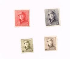 Lot De 4 Timbres Roi Casqué MNH,Neuf Sans Charnière.Yvert 165/6,168/9 - 1919-1920 Trench Helmet