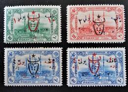 SURCHARGES 1917 - TIMBRES-TAXE DE 1913 - NEUFS * - YT 556/59 - TRES RAREMENT PROPOSES - 1858-1921 Empire Ottoman