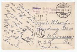 Bad Nauheim Postcard Taxed Travelled 1924 Bad Naueim To New York B190220 - Germania