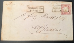 """""""NIEDERSESSMAR"""" Preussen Stpl (Rheinland Köln Gummersbach) 1872 Brustschild Ganzsache (Brief Deutsches Reich - Storia Postale"""