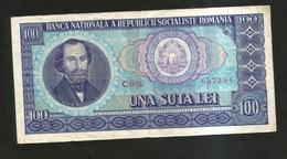 ROMANIA - BANCA NATIONALA - 100 LEI (1966) Socialist Republic - Romania