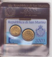 San Marino-2003-DITTICO 2 VAL.20C.+ 50C.-Unificato E.13 - San Marino