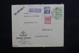 PORTUGAL - Enveloppe Commerciale De Santa Maria Pour Berlin En 1939 , Affranchissement Plaisant - L 23879 - 1910-... République