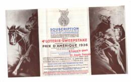 Croix Rouge Luxembourgeoise  Prix D'Amérique 1936  Plaquette - Vieux Papiers