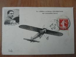 CPA 2 - Carte Postale Ancienne - Chambenois Sur Monoplan Borel - Flieger