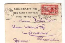 Lettre CONSTANTINE 1937 - Lettres & Documents