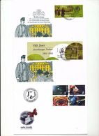 Luxembourg Stamps 150th Anniv Nature Museum Set Day Of Issue Cancel 2002 04s - FDC