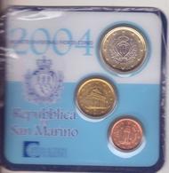 San Marino-2004Trittico-1c.+10c.+1 E.-Unificato E.34 - San Marino