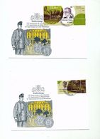 Luxembourg Stamps 150th Anniv Two Values Day Of Issue Cancel 2002 04s - FDC