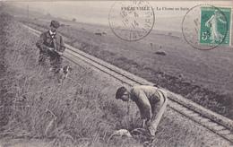 CPA 76 @ FREAUVILLE - La Chasse Au Lapin En 1914 - Chasseur Et Son Fusil @ Edition Pelcran - Autres Communes