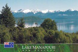 1 AK Neuseeland * Der See Manapouri Im Southland District Der Region Southland - Im Hintergrund Die Cathedral Peaks * - Neuseeland