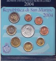 San Marino-2004-Divisionale 9 Val.col 5E.-Unificato E.160 - San Marino
