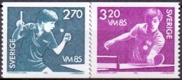 ZWEDEN 1985 WK Tafeltennis PF-MNH - Suecia
