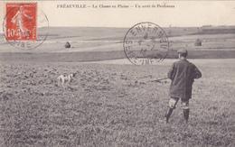 CPA 76 @ FREAUVILLE - La Chasse Au Perdreaux En 1913 - Chasseur Et Son Fusil @ Edition Pelcran - Autres Communes