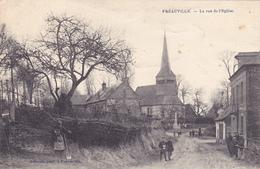 CPA 76 @ FREAUVILLE - La Rue De L'Eglise En 1921 @ Edition Pelcran - France