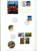 Luxembourg Christmas 1 Card Animals Fauna Squirrel Boar Hare Pigeon Day Of Issue Cancel 2001 2002 04s - FDC