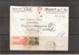 Cover From  Cairo To Switzerland - 1949 (To See) - Égypte