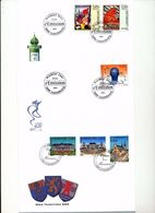 Luxembourg Tourism Set Athenee Europa Poster Art Day Of Issue Cancel  2003 04s - FDC