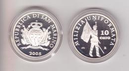 San Marino-2005-Milizia Uniformata 10 E..-Unificato E.50 - San Marino