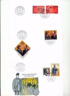 Luxembourg Famous Women Royals 50th Wedding Philately Cvr Some Day Of Issue Cancel 2002  2003 04s - FDC