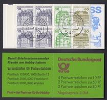 Bund Markenheftchen 24b Burgen + Schlösser 1982 Gestempelt Eitelborn 11.7.87 - Markenheftchen