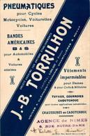 Cpa Avec Pub Pneumatiques. Cycles Motocycles Voiturettes Voitures J.B. Torrilhon En TB.Etat - Publicité