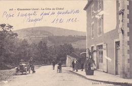 CPA 39 @ COUSANCE - La Côte De Châtel En 1922 - L'Auto Peugeot Quadrillette De Pépé Auguste @ Edition L. Raison N° 203 - Autres Communes