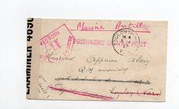 !!! PRIX FIXE : LETTRE D'UN PRISONNIER FRANCAIS AU NIGERIA POUR TOULON DE 1941 AVEC CENSURES, MENTION MARINE ANTILLES - WW II